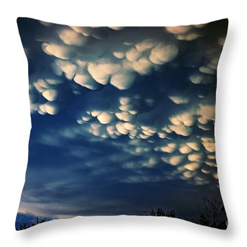 Puffy Storm Clouds Throw Pillow