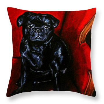 Puggsley Throw Pillow