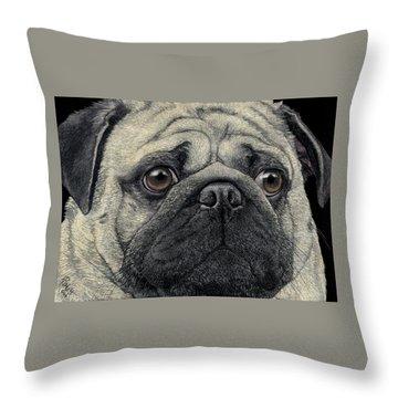 Pugshot Throw Pillow