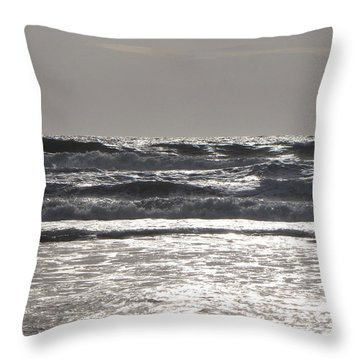 Throw Pillow featuring the photograph Puissance Oceane by Marc Philippe Joly