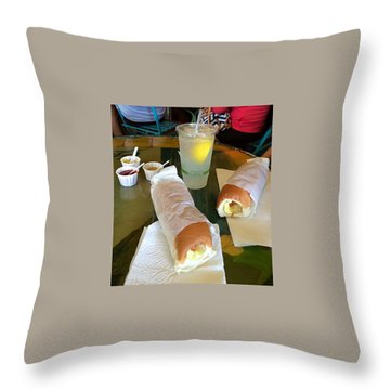 Throw Pillow featuring the photograph Puka Dogs by Brenda Pressnall