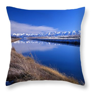 Pukaki Canal  Throw Pillow