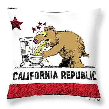 Puke Politics Throw Pillow