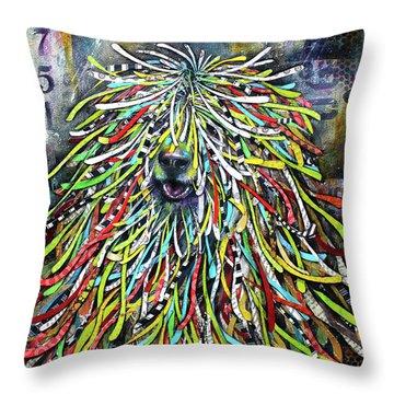 Hungarian Sheepdog Throw Pillow