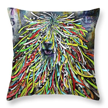 Hungarian Sheepdog Throw Pillow