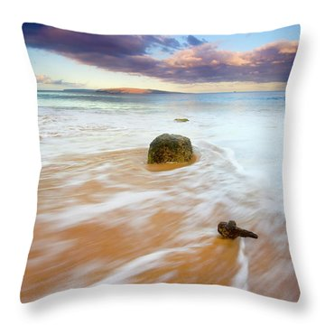 Pulled To The Sea Throw Pillow by Mike  Dawson