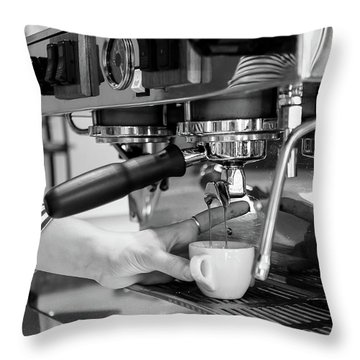 Pulling The Shot Throw Pillow