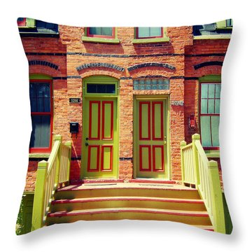 Pullman National Monument Row House Throw Pillow