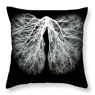 Pulmos Mundi Throw Pillow