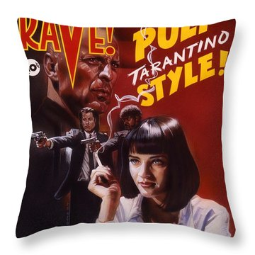 Pulp Fiction Throw Pillow by Tim  Scoggins