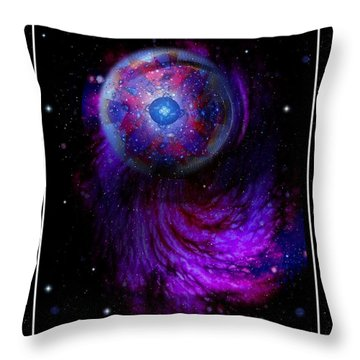 Pulsar At The Edge Of Space Throw Pillow