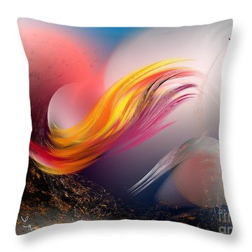 Pulsar Throw Pillow by Leo Symon