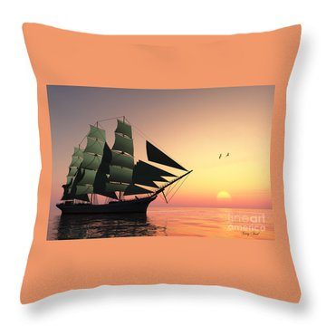 Pulse Of Life Throw Pillow by Corey Ford