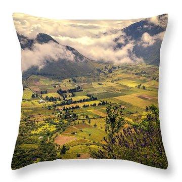 Pululahua Volcano Throw Pillow