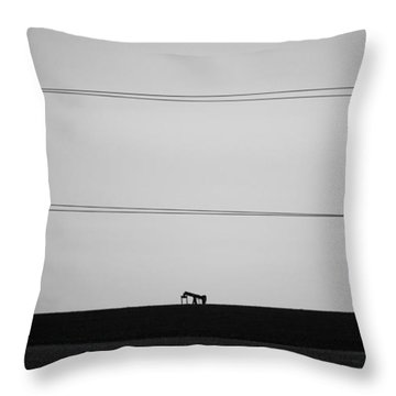 Pump Jack Throw Pillow