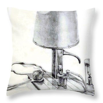 Pump Lamp Throw Pillow