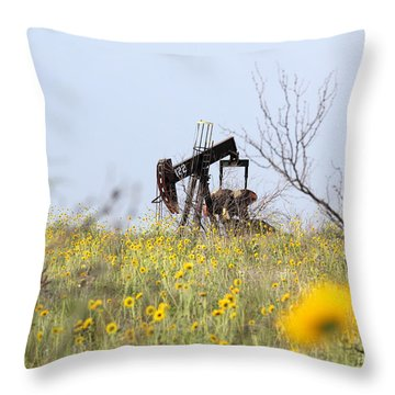 Pumpjack 122 Throw Pillow