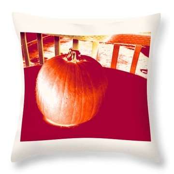 Pumpkin #1 Throw Pillow