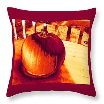 Pumpkin #3 Throw Pillow