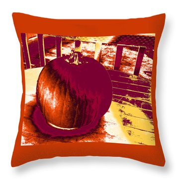 Pumpkin #5 Throw Pillow
