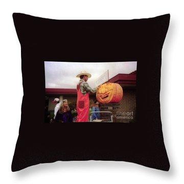 pumpkin Carver moon bay Throw Pillow