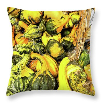Pumpkin Family Throw Pillow