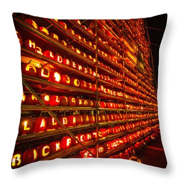 Throw Pillow featuring the photograph Pumpkin Festival 2015 by Robert Clifford