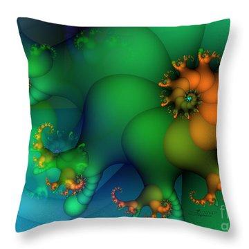 Pumpkin Garden Throw Pillow by Jutta Maria Pusl