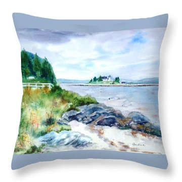 Pumpkin Island Light Throw Pillow