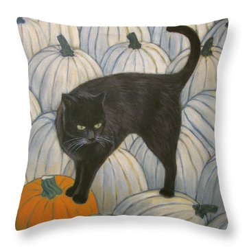 Pumpkin Keeper Throw Pillow