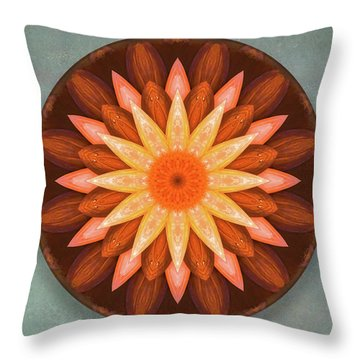 Pumpkin Mandala -  Throw Pillow