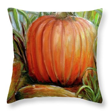 Pumpkin Patch  Throw Pillow