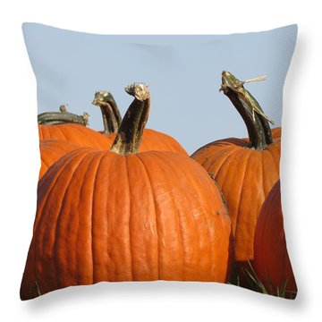 Pumpkin Patch II Throw Pillow by Kyle West