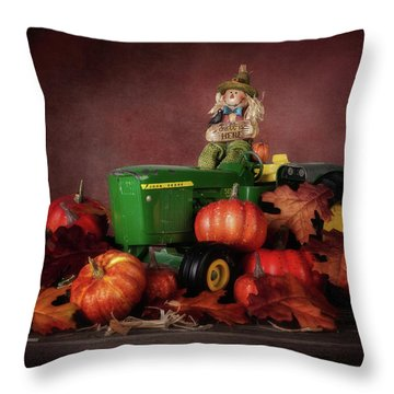 Pumpkin Patch Whimsy Throw Pillow