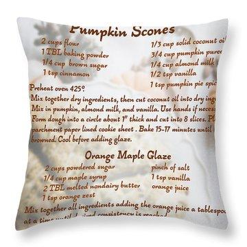 Pumpkin Scones Recipe Throw Pillow