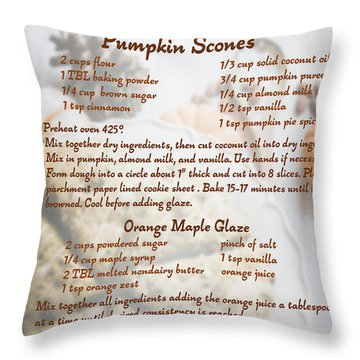 Pumpkin Scones Recipe Throw Pillow