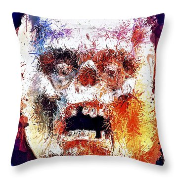 Pumpkin Scream Throw Pillow