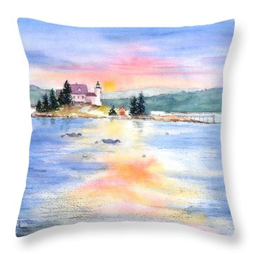 Pumpkin Sunset Throw Pillow