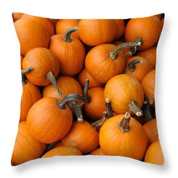 Throw Pillow featuring the photograph Pumpkins by Bradford Martin