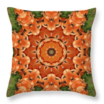 Pumpkins Galore Throw Pillow