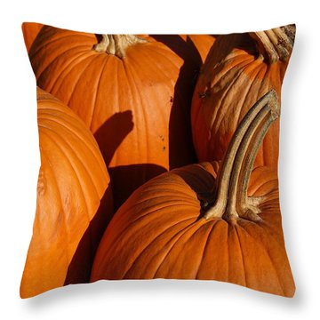 Pumpkins Throw Pillow by Michael Thomas