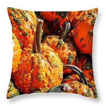 Pumpkins With Warts Throw Pillow