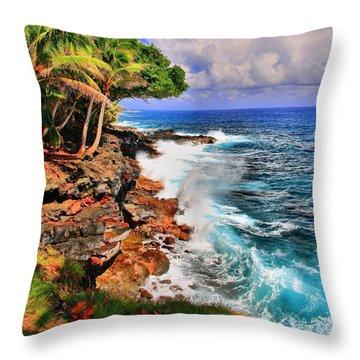 Throw Pillow featuring the photograph Puna Coast Hawaii by DJ Florek