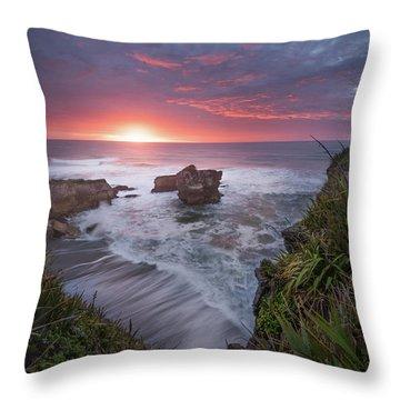 Punakaiki Throw Pillow