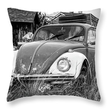 Throw Pillow featuring the photograph Punch Bug by Bitter Buffalo Photography