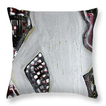 Punk Beauty Throw Pillow