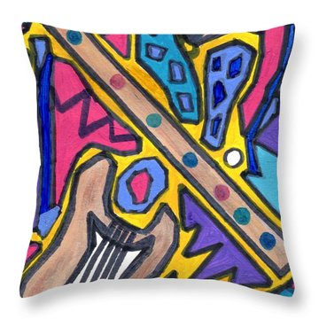 Punk Concept Painting 4 Throw Pillow