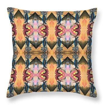 Punk Rock Opera Pattern Throw Pillow