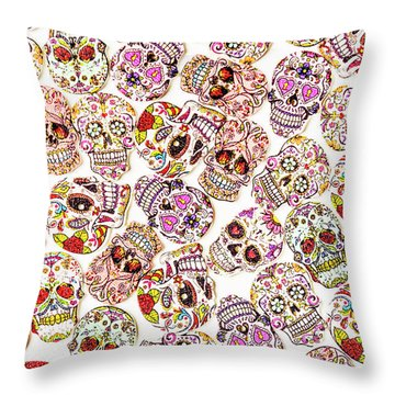 Punk Rock Pattern Throw Pillow