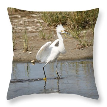 Punky Snowy Throw Pillow